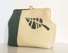 "Poseta Clutch ""Green Leaf"""
