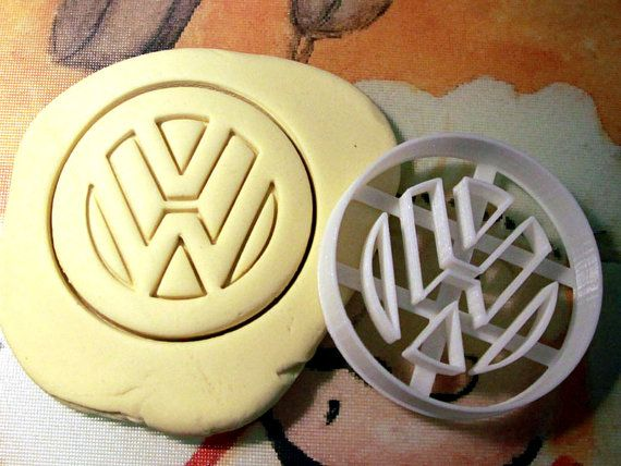 VW Volkswagen Logo Cookie Cutter  Made from by StarCookies on Etsy