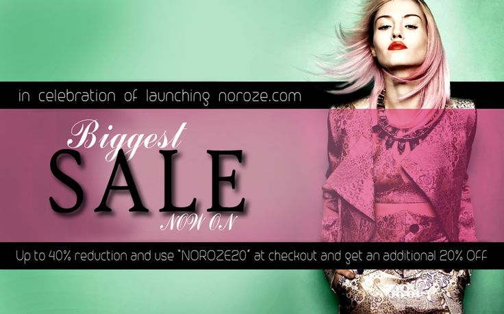 Shop at www,NOROZE.com, where you can find suggested and most liked products, by people like you.