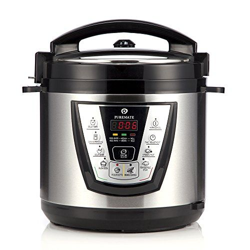 PureMate® PM 660 Stainless Steel 7-in-1 Electric Pressure Cooker 6 Litre, 1000W