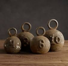 These vintage style fishing weights would make great doorstops