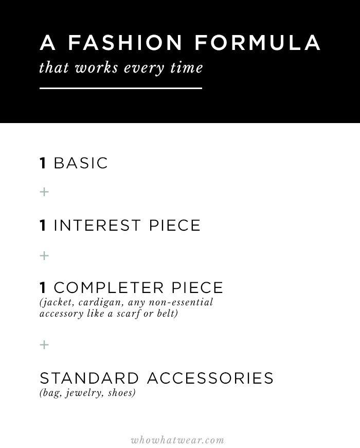 A Fashion Formula for Awesome Outfits Every Time via @WhoWhatWearAU