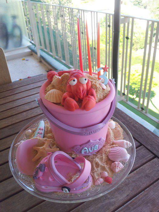 beach sand bucket - Cake by Yumkat