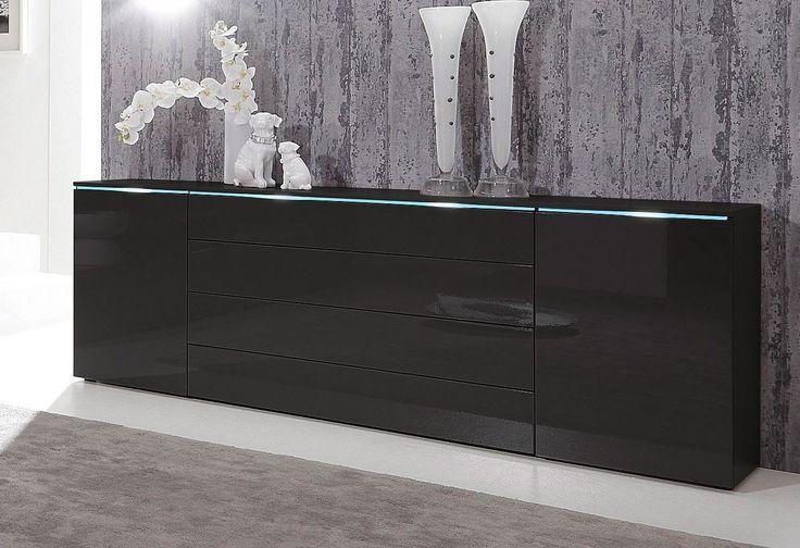 die besten 25 sideboard schwarz ideen auf pinterest sideboard schwarz wei regal schwarz und. Black Bedroom Furniture Sets. Home Design Ideas