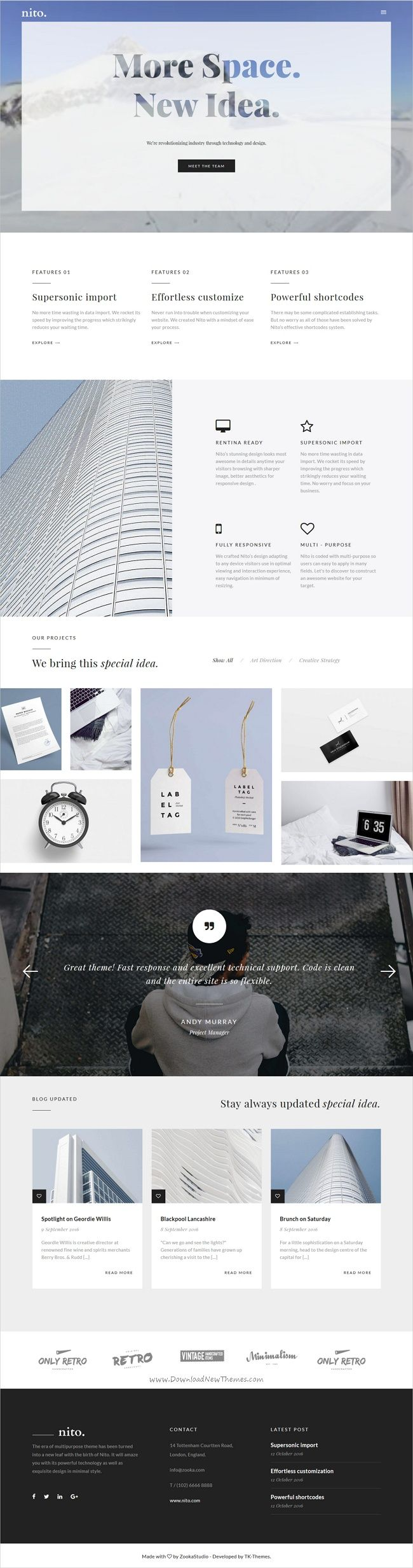 Nito is a versatile responsive #HTML5 bootstrap #template for stunning #studio website with 21+ multipurpose homepage layouts download now➩  https://themeforest.net/item/nito-a-clean-minimal-multipurpose-html-template/19291489?ref=Datasata