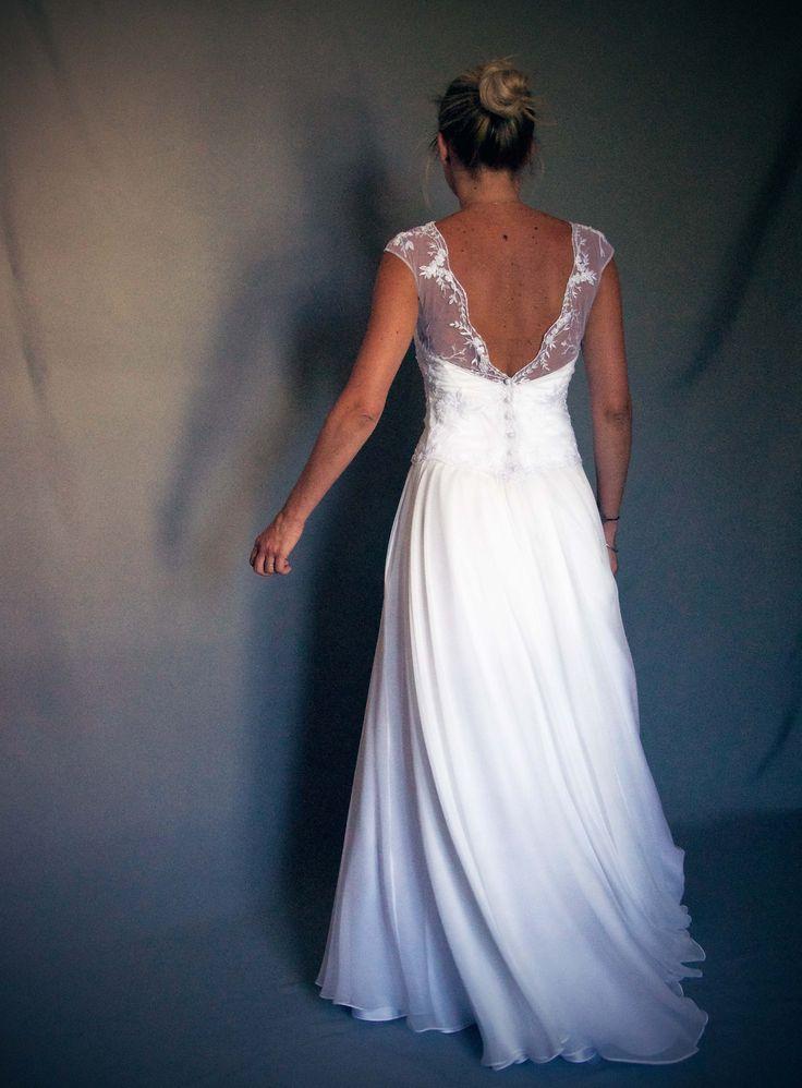 En compagnie des perdrix robe de mari e sur mesure for Robes de demoiselle d honneur aqua pour mariage sur la plage