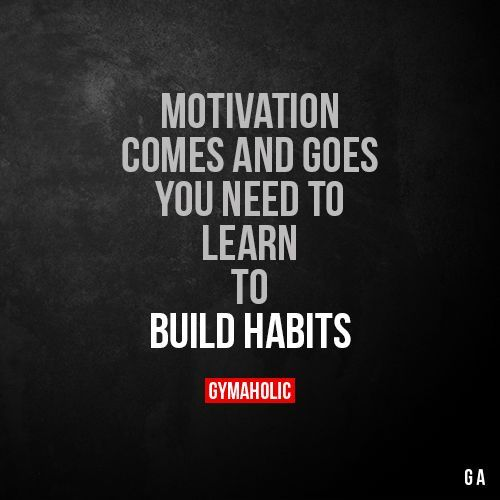 Motivation Comes And Goes You need to learn to build habits. https://www.gymaholic.co https://www.musclesaurus.com