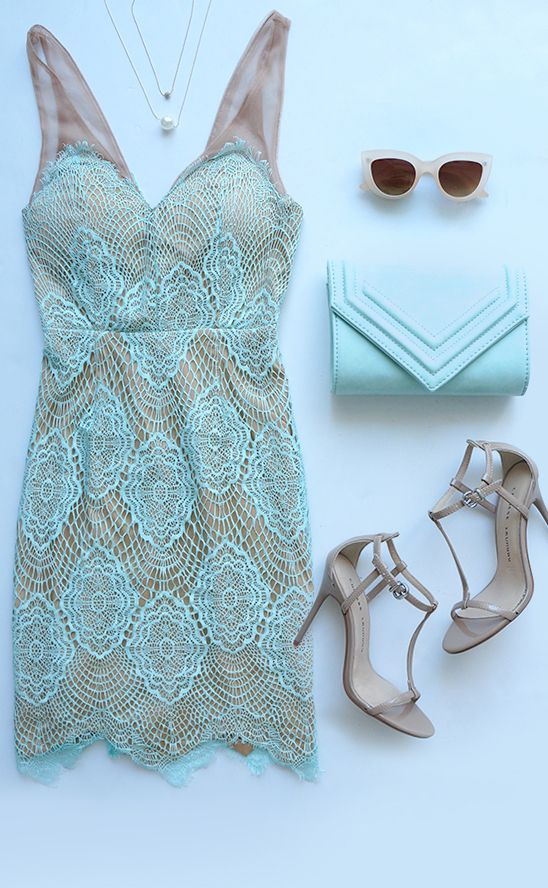 Luxe for Life Mint Lace Dress