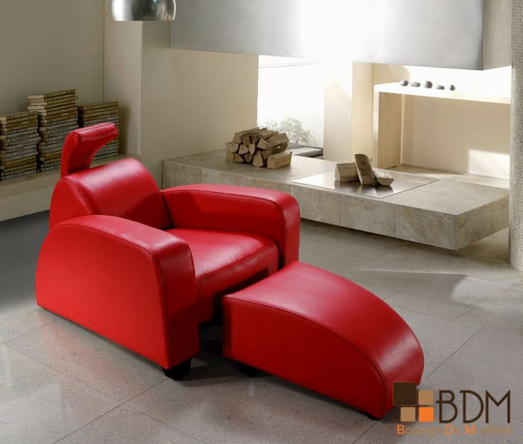 Rosso Modern Red Leather Lounge Chair and Ottoman15 best Divanes images on Pinterest   Chaise lounges  Modern and  . Funky Chairs For Living Room. Home Design Ideas