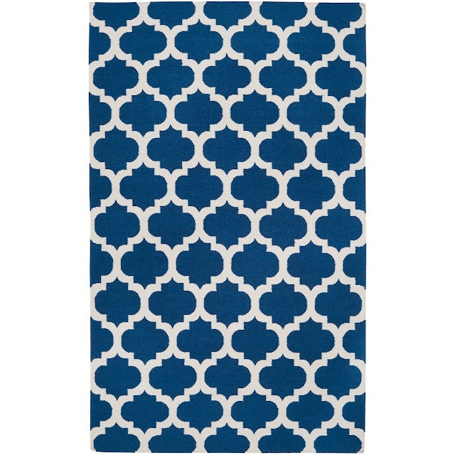 Great 8x11 rug from overstock.com, 349.99 - via Copy Cat Chic: Living Rooms, Surya Frontier, Area Rugs, White Rug, Blue Rugs, Hands Woven, Royals Blue, Wool Rugs, Frontier Mediterranean