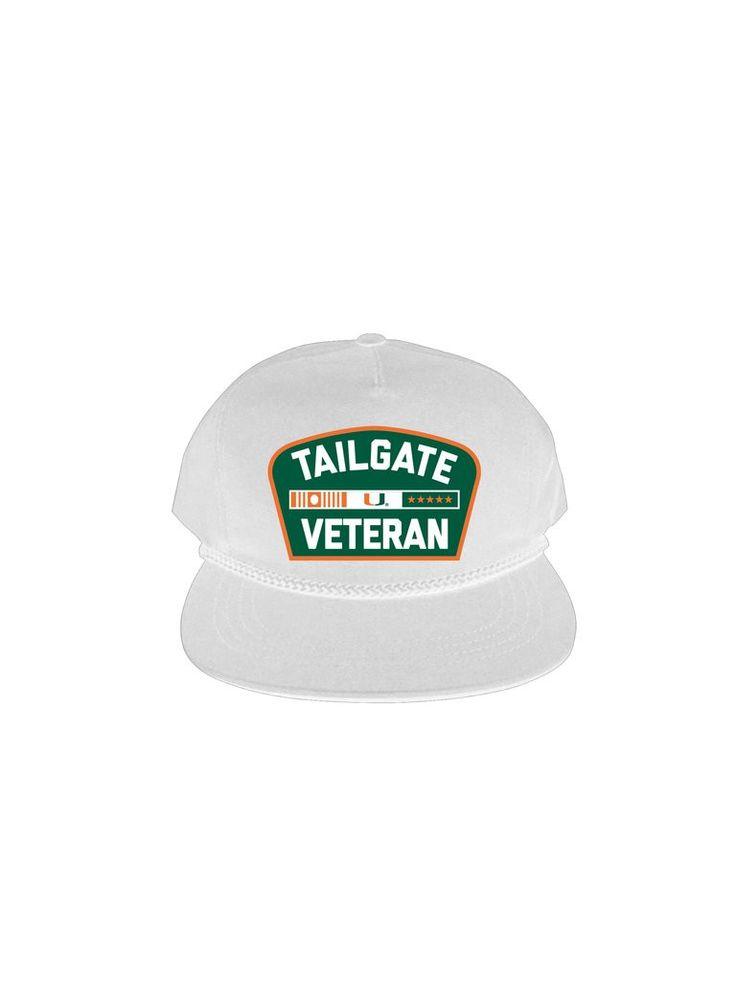Miami Hurricanes DymeLyfe Tailgate Veteran Hat - White