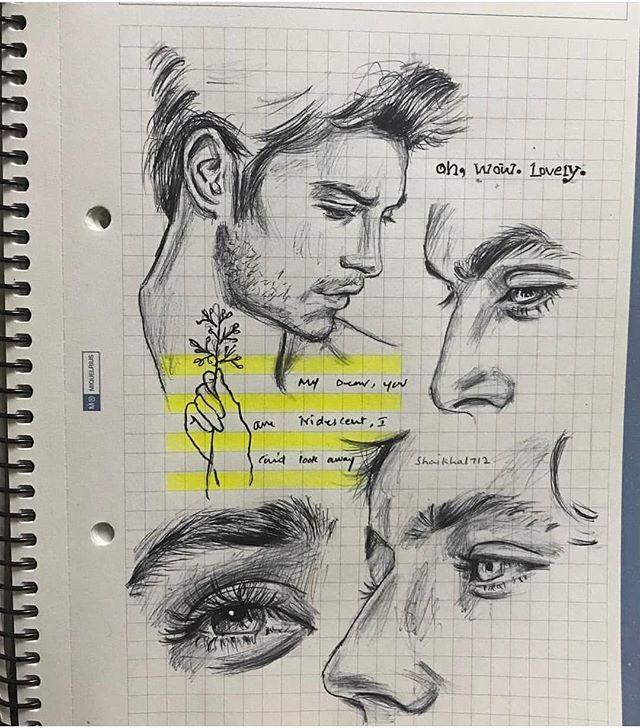 Amazing sketch on books