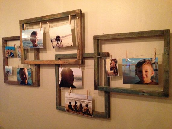 Creative Clothespin Picture Frames on Etsy, $75.00