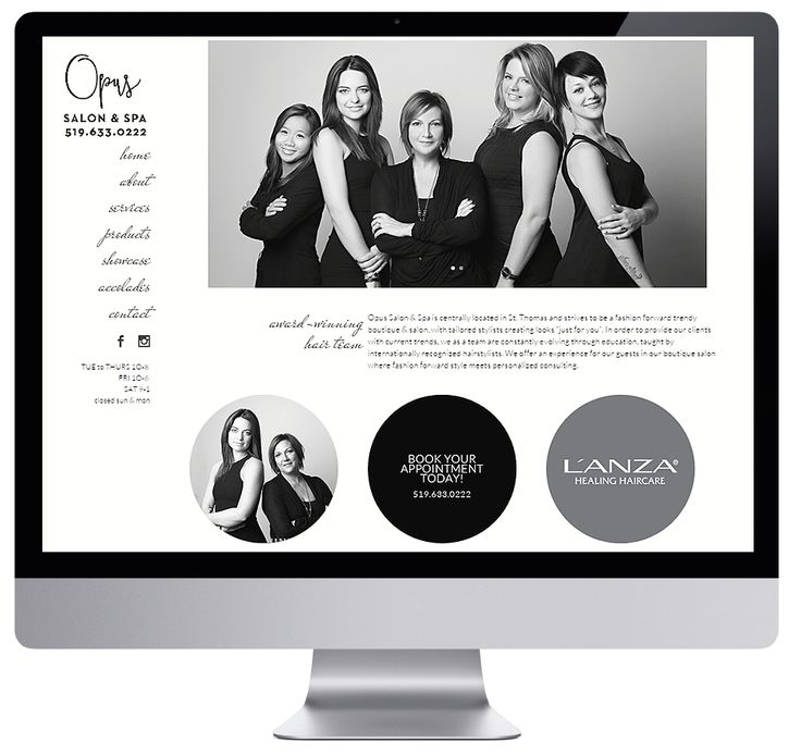 Hair and Beauty Salon in St. Thomas Ontario. | #wordpress #websitedesign