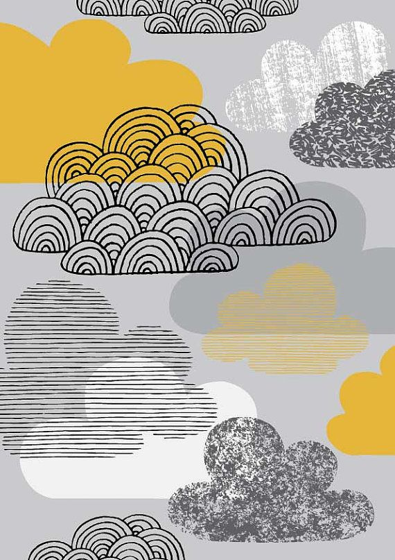 I Love Clouds, limited edition giclee print $25  I love all her stuff in this shop