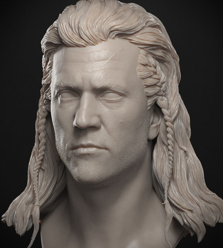 Mel Gibson BraveHeart, Jose Pericles on ArtStation at https://www.artstation.com/artwork/dbG01