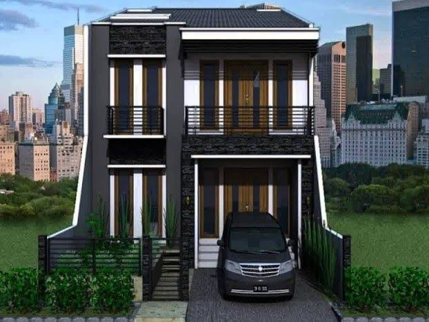 Desain Rumah Minimalis 2 Lantai 6x12 Sederhana Cek Bahan Bangunan