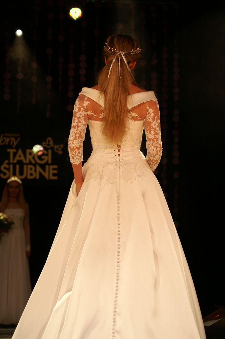klasyczna#suknia#ślubna#z#kieszeniami model1305 #mikado najnowsza#kolekcja Targi2016