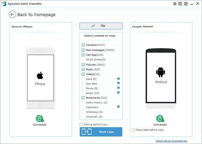 transfer data from iPhone to Huawei   Huawei Mate 20