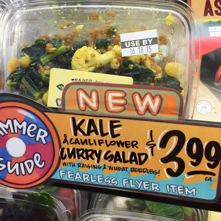 TJ's does it again! Kale & Cauliflower Curry Salad. Huge yum!  Love the chewy wheat berries  #mycurryobsession #traderjoes #ornafinds #yummieryou #goodchoices #healthyliving #lunch #weightwatchers #pointsplus #ww #fearlessflyer