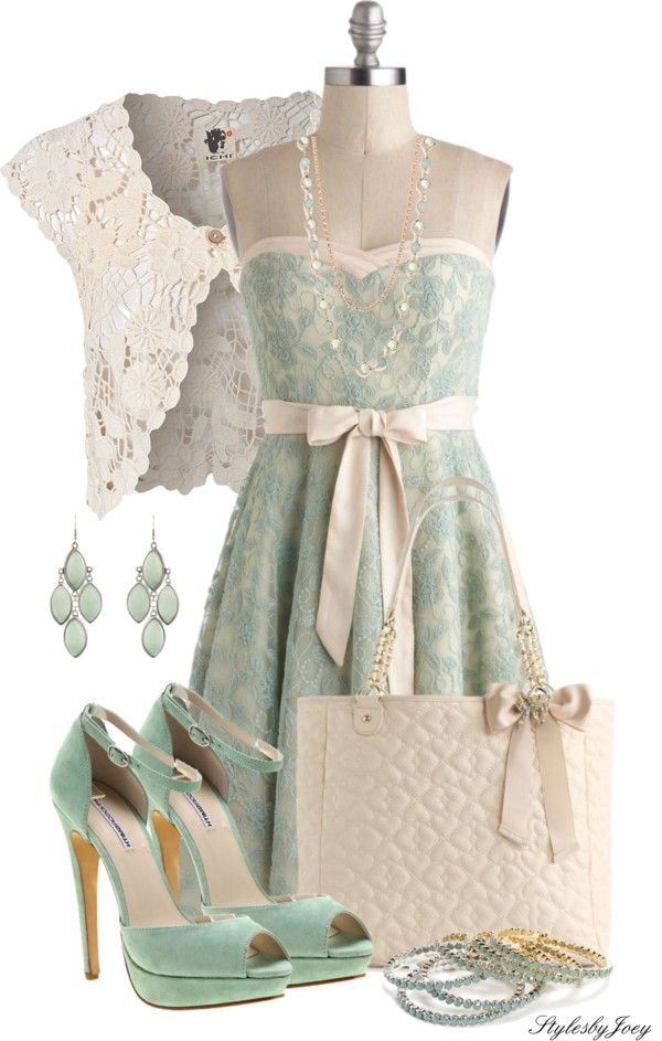 """""""Strapless Lace"""" by stylesbyjoey ❤ liked on Polyvore"""