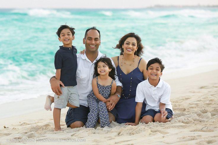 Indian Family Beach Portrait Cancun Photographer