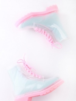 Baby pink and blue doc martins