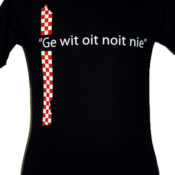 heren T-Shirt GE WIT OIT NOIT NIE fun cool brabant frank lammers
