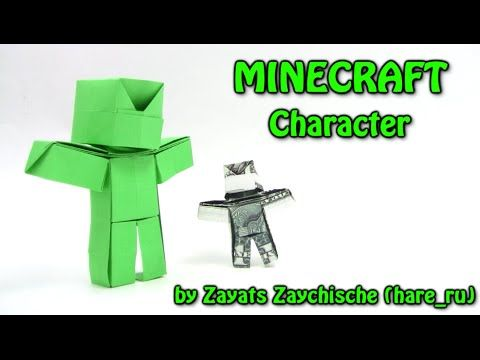 Cool Origami MINECRAFT Steve Character by Hare_ru - Origami easy tutorial
