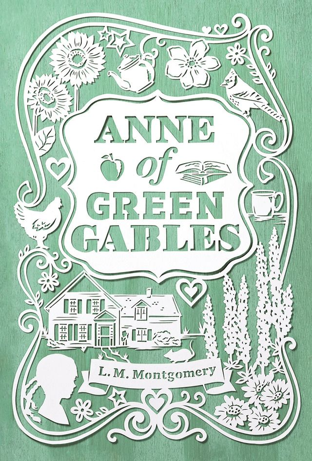 Anne of Green Gables #bookCoverDesign #cutpaper