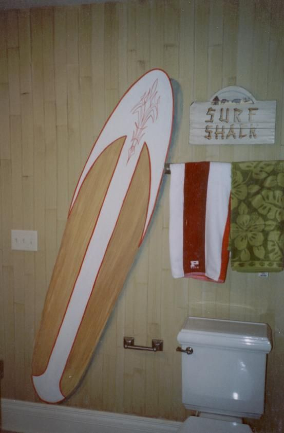 17 best images about surfer themed bathroom on pinterest for Surf bathroom ideas
