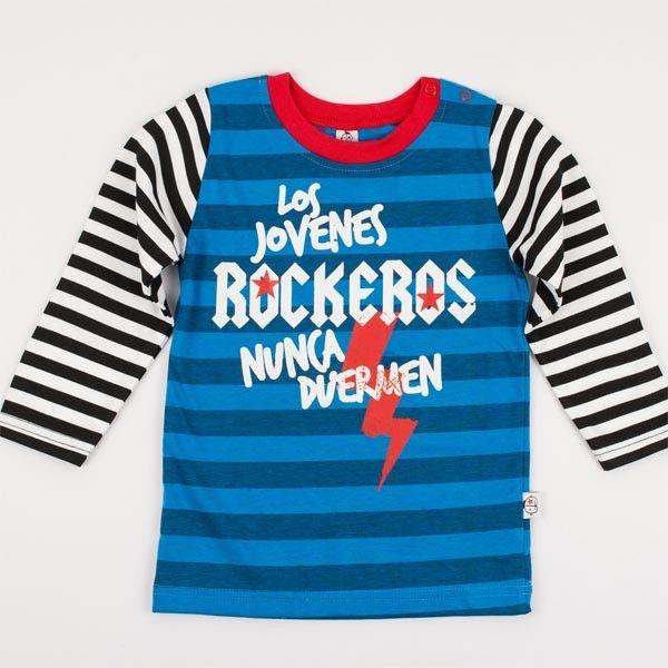 """Maglietta  Invernale per Bambino """"Rockeros"""" #mamamelocompras #christmas #xmas #christmaspicture #picture #photography #kid #newborn #baby #holiday #winter #noel #gift #christmaspresent #christmasgift #natale #fotodelnatale #fotografia #abbigliamentobambini #negozionline #regalinatale #bambini #neonati #inverno #regalo #idearegalo #popolare #mamamelocompras #vacanze #regalodinatale #prezzibassi #outletabbigliamento #outletbambini #tutine #vestitini #scontionline"""