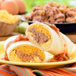 Mexican Shredded Beef Breakfast Burritos recipe.
