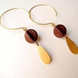 Seed Pod Hoop Earrings