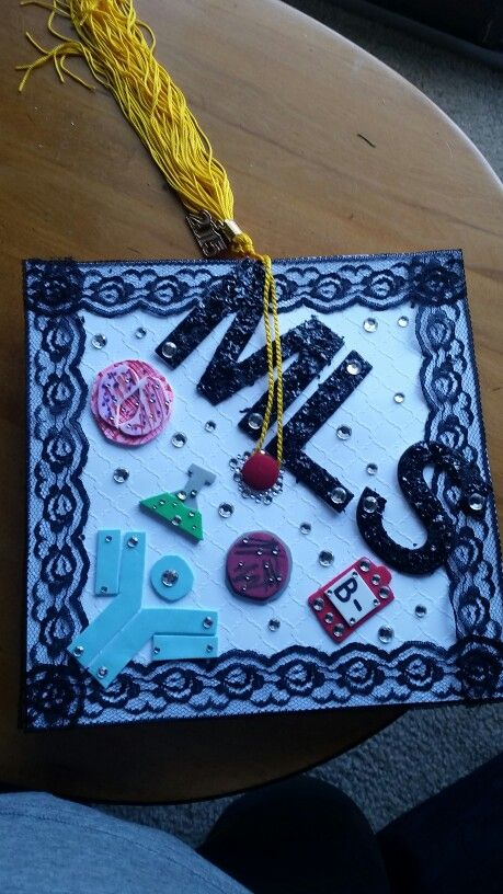 Medical laboratory science graduation cap Hematology chemistry microbiology blood bank immunology
