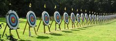 Archery games   http://summercampprogramdirector.com/archery-games-and-challenges/