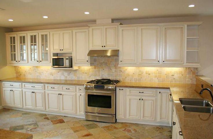 Cream Glazed Kitchen Cabinets 2015   Cream painted kitchen ...
