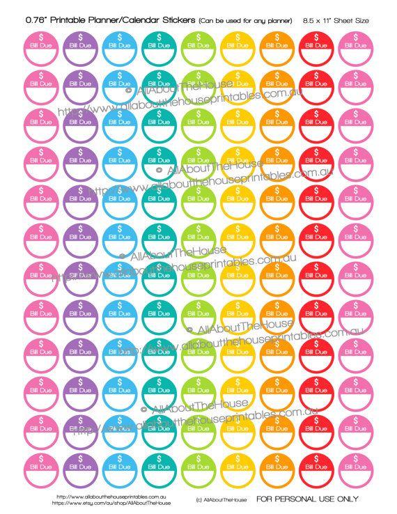 7266 best Planner \/ Calendar Stickers images on Pinterest - bill calendar