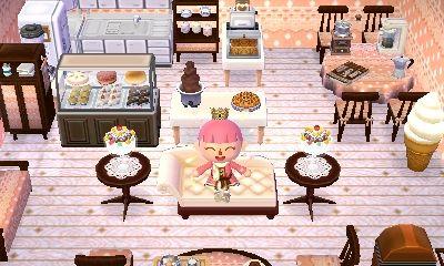 new leaf : Baue dein eigenes Cafè! (Ähnlich wie Konditorei) Besonders schön wird es mit servierten Essen auf Tischen, oder einfach Möbeln, die du von Kofi kriegst!