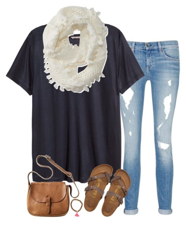 """""""another day off of school!"""" by sarahc-01 ❤ liked on Polyvore featuring moda, rag & bone/JEAN, H&M, Aéropostale, Toast e Birkenstock"""