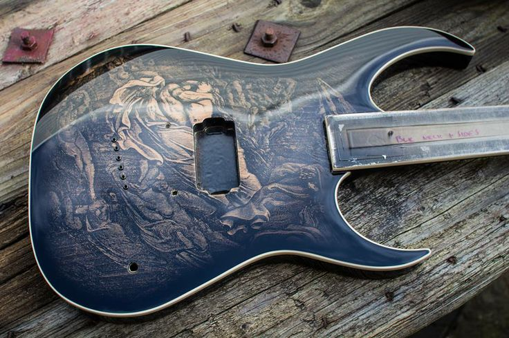 Daemoniess Guitars The Gustave Dore Engraving Body