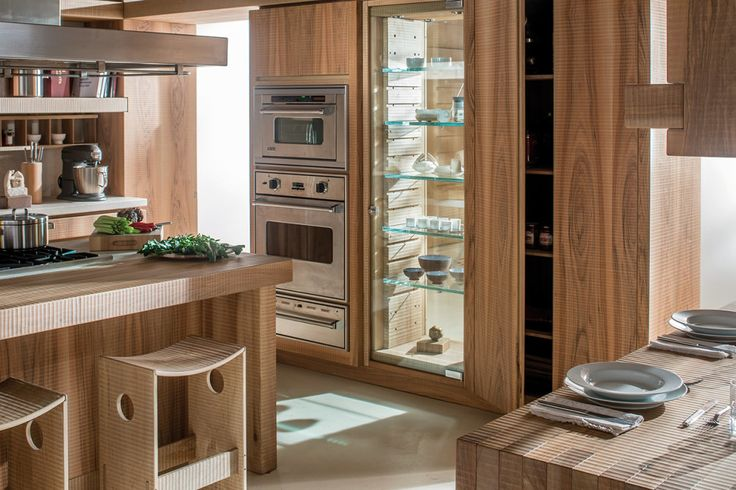 HABITO by Giuseppe Rivadossi wood kitchen furniture and cabinets. #MadeinItaly #design