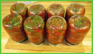Домашние рецепты: Видео рецепт - Маринованные помидоры с хреном
