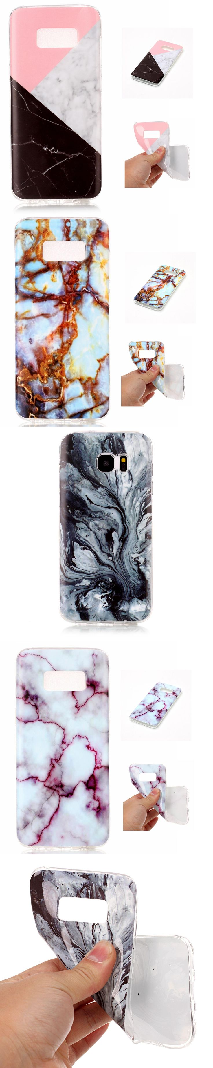 Fashion IMD Marble Cover Coque For Samsung Galaxy S5 S6 S7 S8 edge S6Edge Fundas Classic Black White Marble Painted Phone Cases