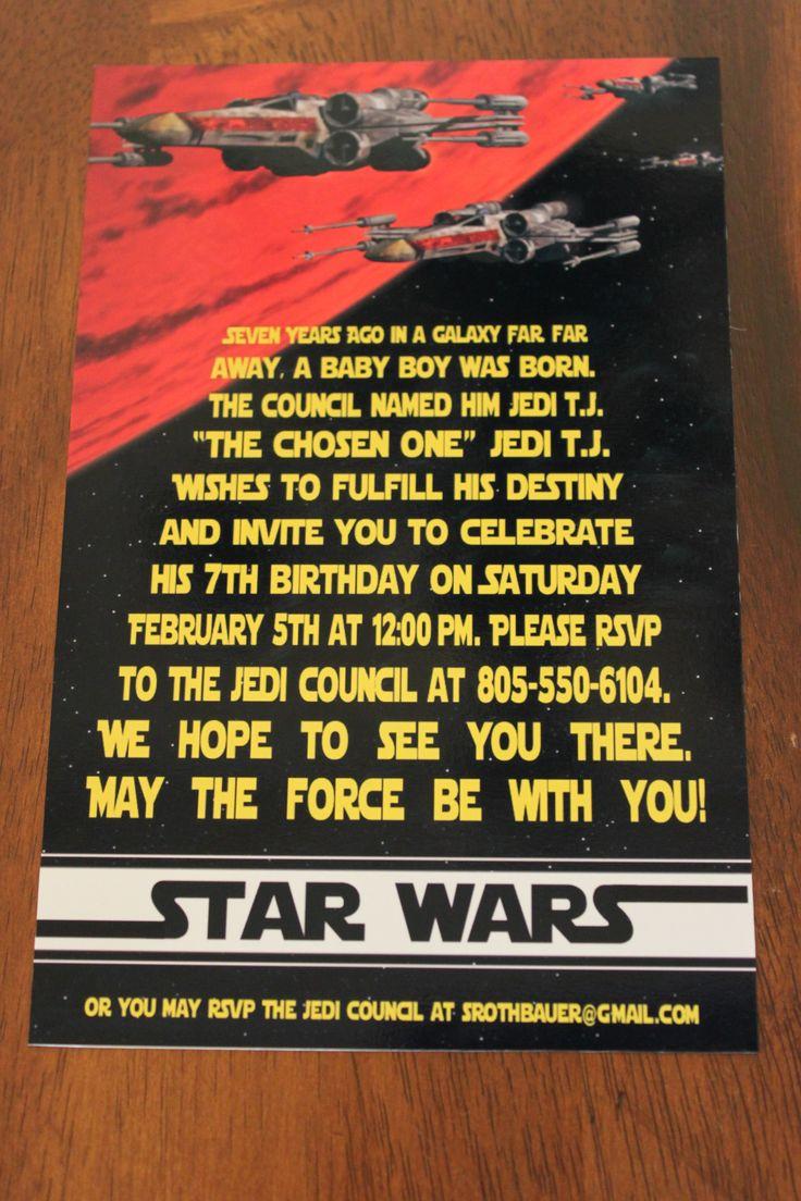 10 best Darth Vader party images – Star Wars Birthday Invitation Wording