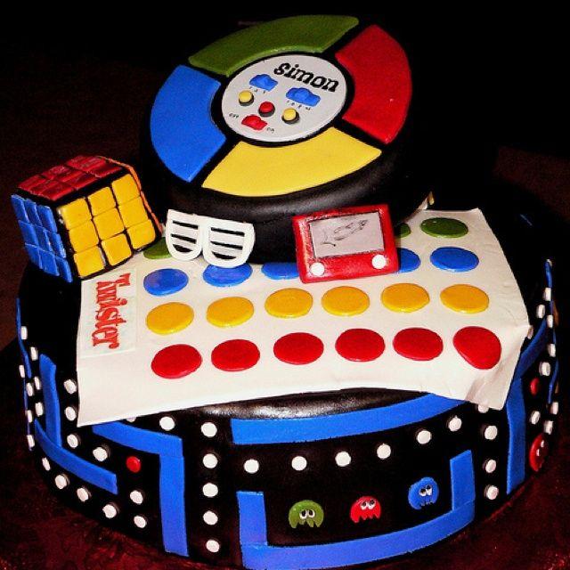 ideas for 80's theme birthday cakes   80's Themed Birthday Cake   My 40th Birthday Party Ideas (2013)