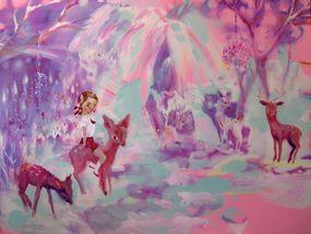 150 x 200 cm, oil and alkyd on canvas, Katja Tukiainen 2011