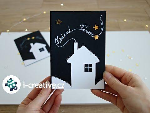 Vánoční přání - výroba z papíru - YouTube