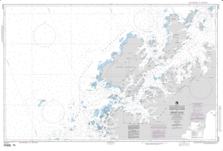 Argentine Islands To Brabant Islands Nautical Chart (29122) by National Geospatial-Intelligence Agency