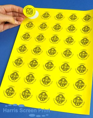 Bright and colourful round charity lapel stickers printed on sheets for fundraising charity lapel stickers pinterest stickers news and charity